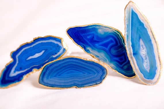 Blue agate napkin rings, acrylic napkin rings, Table Decor, Agate napkin rings, acrylic napkin rings