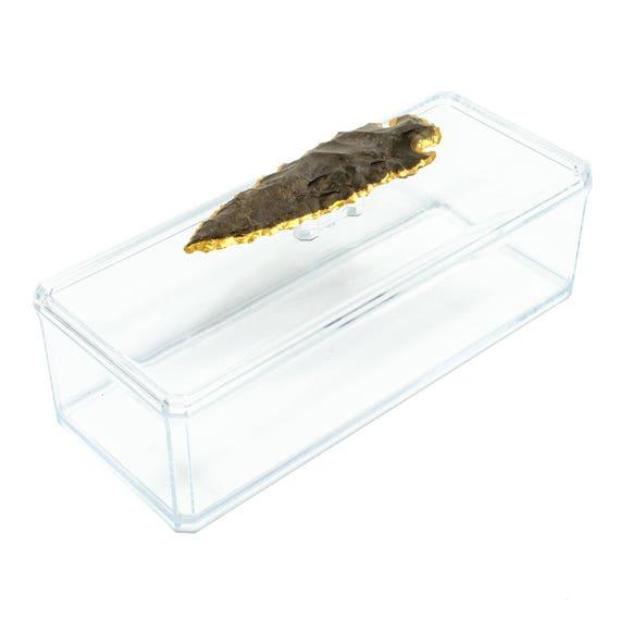Remote Acrylic Box w/ Agate Arrowhead