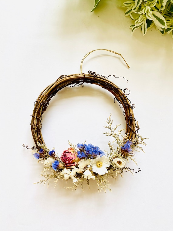 Botanical wreath w/ dried flowers and herbs, dried flower wreath, flower wreath, dried flowers, wreath, Floral wreath, fall wreath