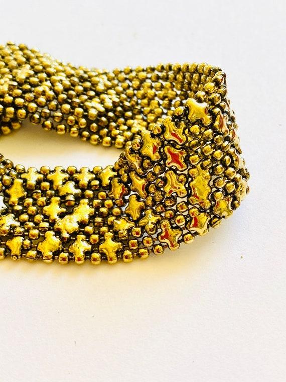 Brass Mesh Cuff Bracelet, Boho Mesh cuff, Brass cuff bracelet, Brass mesh Jewelry, Brass Jewelry