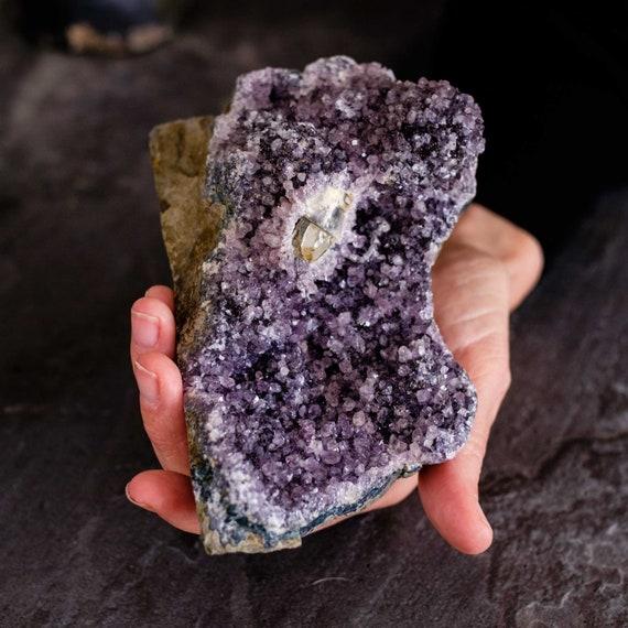 Black amethyst specimen, amethyst, amethyst crystal, raw amethyst, black amethyst