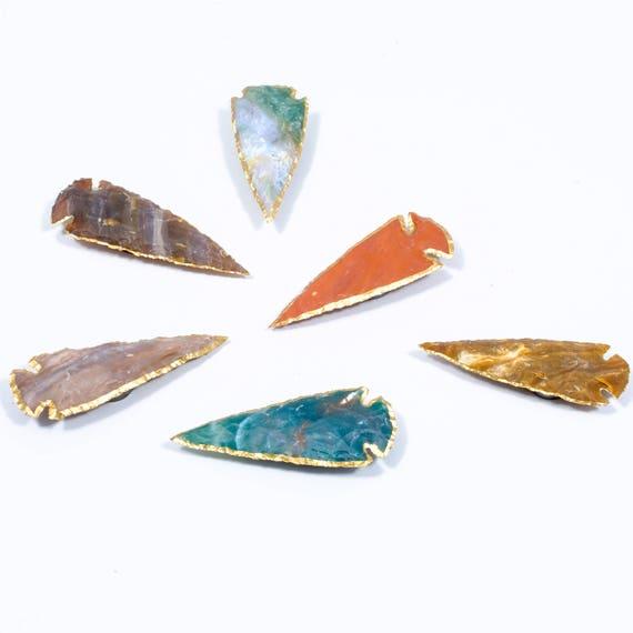 Arrowhead Agate Magnets set of 6