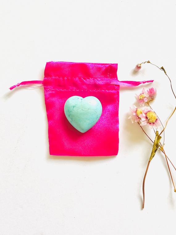 Gemstone rock heart in ice blue, Heart shaped stone, Gemstone heart, blue heart, wellness gifts