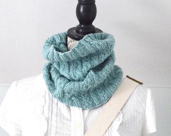 Scrumptiously Soft Merino & Cashmere COWL -  Handknit Neckwarmer
