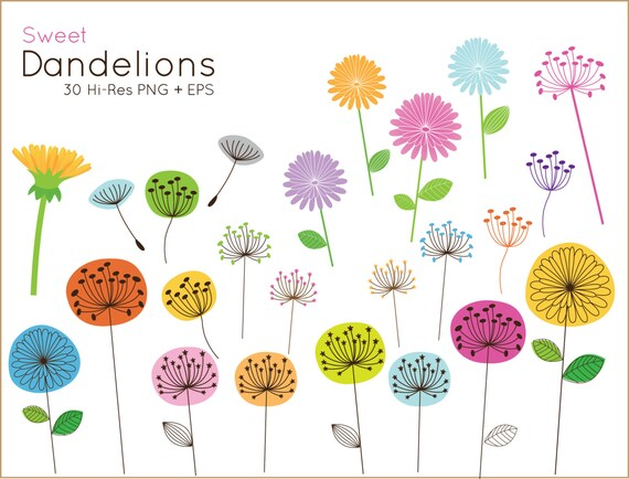 buy 2 get 1 free sweet dandelion clip art for personal and rh etsystudio com free clipart for teachers commercial use copyright free clipart for commercial use