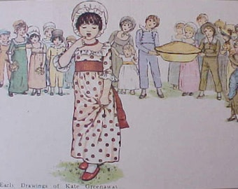 Adorable Postcard with Kate Greenaway Children