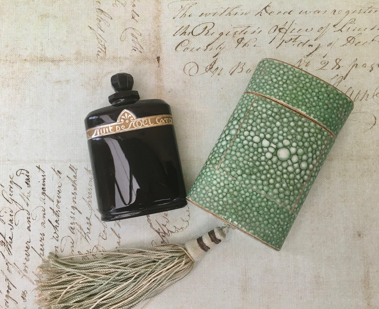 Deco De Noel Originale beautiful art deco era nuit de noel perfume bottlebaccarat in original  shagreen case