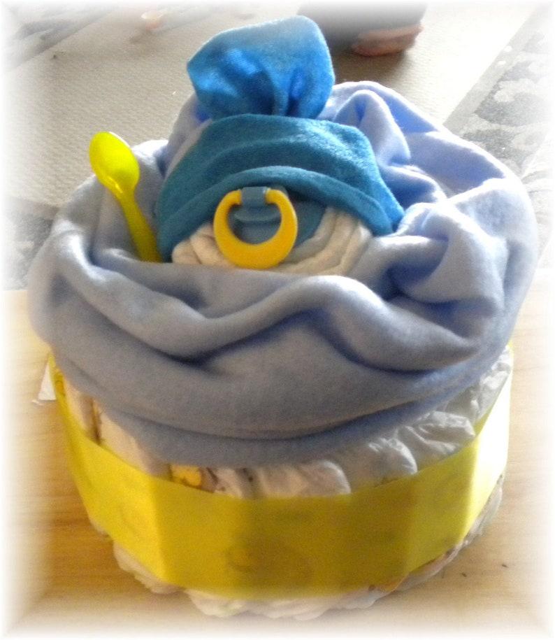 Daiper Cake Giant Baby Face Cupcake Boy Baby Shower Gift
