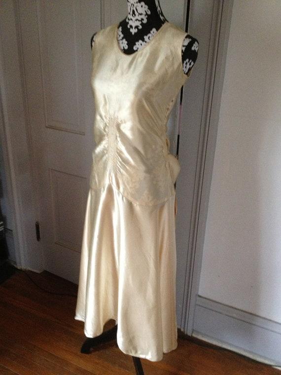 1920's Liquid Satin Wedding Dress