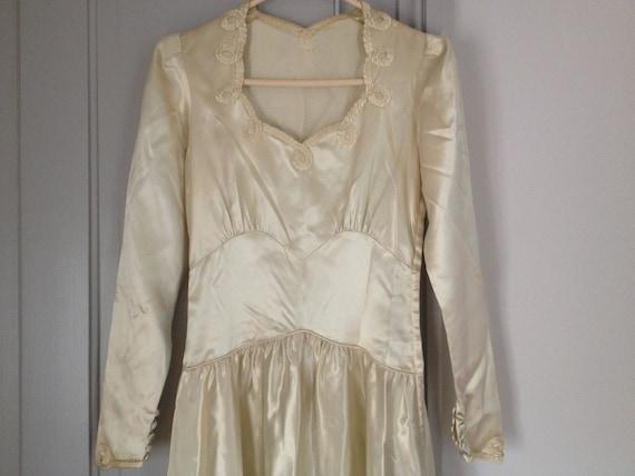 WWII Liquid Satin Wedding Gown