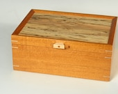 Mahogany Jewelry Box with...