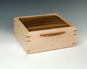 Jewelry Box made of Tiger Maple and Zebrawood