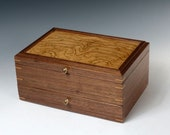 Jewelry Box of Walnut and...