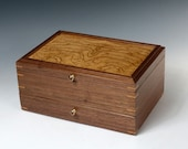 Walnut Jewelry Box with Chestnut Burl Veneer Lid