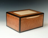 Classic Wood Jewelry Box with Two Trays