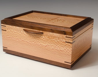 Sycamore and Tropical Walnut Jewelry Box