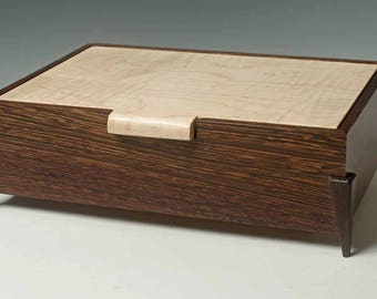 Keepsake Box of Wenge and Tiger Maple