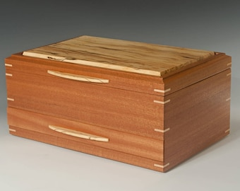 Sapele Jewelry Box with Spalted Beech Lid