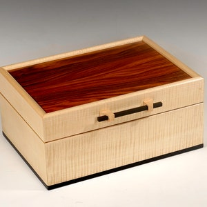 Wood keepsake box jewelry boxmemory box with inlaid lid celebrating the love of musicgift for music lover
