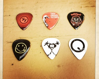 Customized Guitar Pick magnets (set of 6)