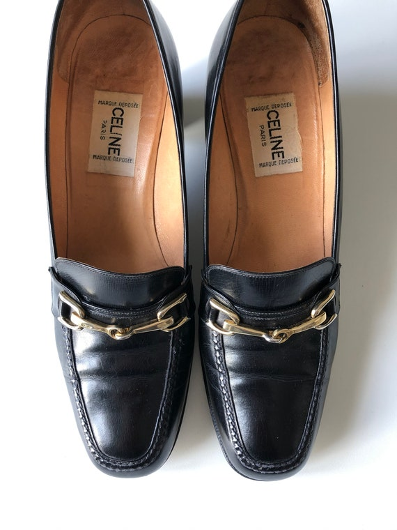 Celine Heels Oxford black shoes T 38 - image 2