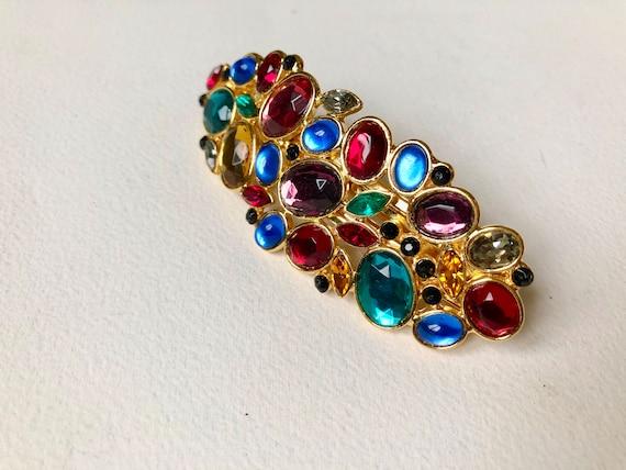 Vintage  rhinestones  hair pin 1980s  Made in Fran