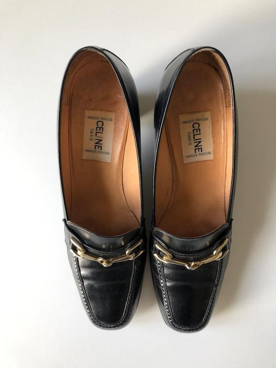Celine Heels Oxford black shoes T 38 - image 3