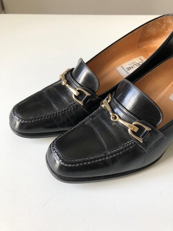 Celine Heels Oxford black shoes T 38