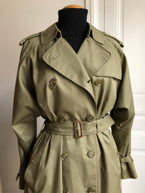 Vintage Burberrys trench coat  vintage tartan Engl