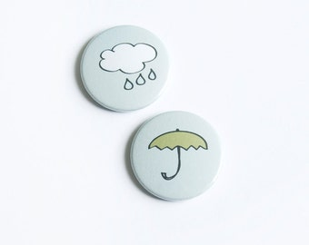 "Button Set ""Singin' in the Rain"""