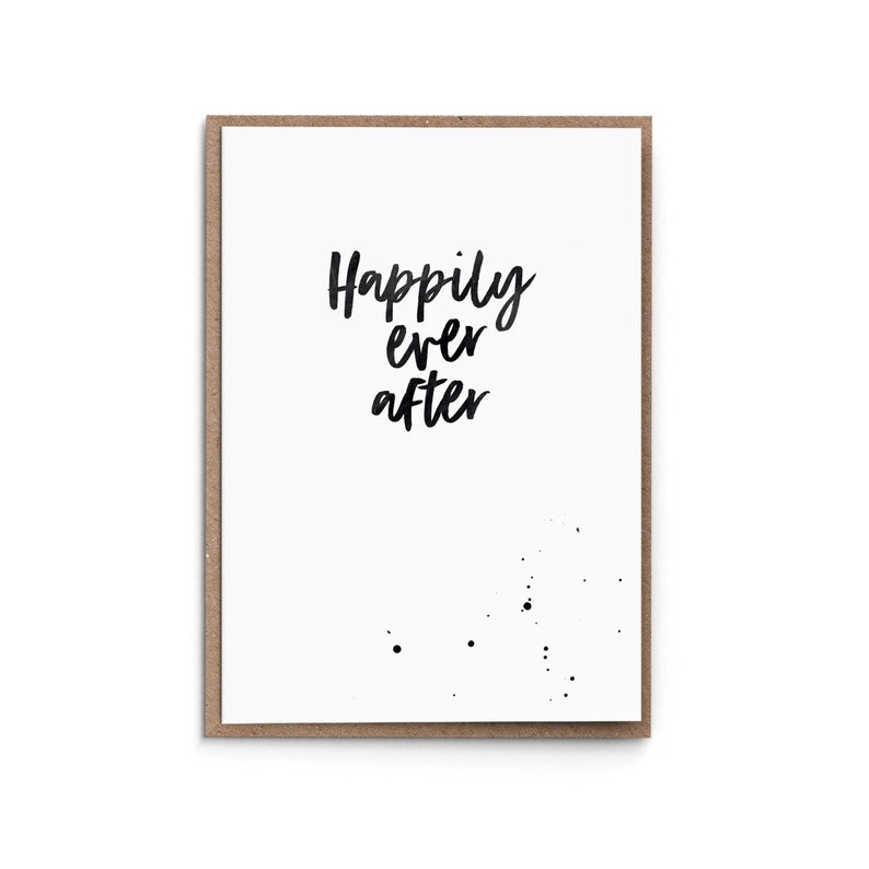 Greeting Card Happily ever after  Wedding image 0