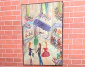 Dolls house modern art Ladies that lunch Dollhouse Art  Contemporary Art | Dolls House Painting