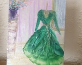 Gone with the wind Dressing Room ACEO part of my a Hollywood Collection Painting Original Miniature Art