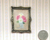 Peony Dollhouse miniature picture original art