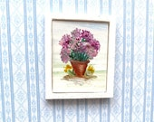 Hydrangea Flower pot Painting Dolls House