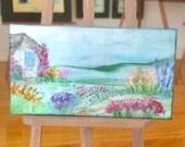 Miniature Landscape Painting Dollhouse Art 1:12th all unique original art