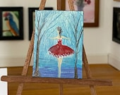 Miniature Ballerina Painting Dollhouse Art