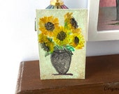 Miniature Dolls House Sunflower Picture
