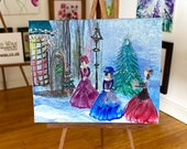 Miniature Art Christmas Carol Singers OOAK Collectible picture