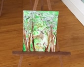 Miniature landscape Dolls house Woodland wildlife stag  Miniature Collectible Dolls House Paintings by Miniature Artist Hazel Rayfield