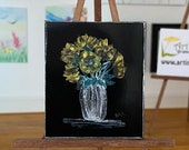 Modern Miniature Art Dolls House Golden flower  Picture