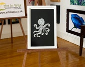 Miniature  Art Modern Dollhouse framed Picture octopus