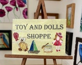Miniature sign plaque style Dolls House Original Toy and Doll Shoppe