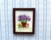 Lavender Painting Dollhouse