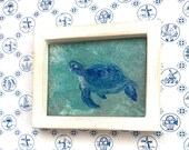 Framed Dolls House turtle modern Miniature Painting