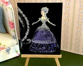 Dollhouse painting Ella  on her way to the ball in her Cinderella carriage