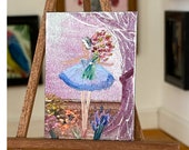 Dollhouse Ballet Curtain Call Ballerina Original Art Painting