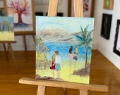 Beach Bar  Miniature Original Painting Dolls House Art  OOAK
