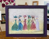 "Miniature Art ""Lady"" Framed Dolls House Painting"