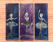 Dollhouse Ballerina Miniature Dolls House Panel Paintings original Art